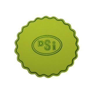 Farbige Wellenrand Tassendeckchen bedrucken im Prägedruck mit eigenem Logo