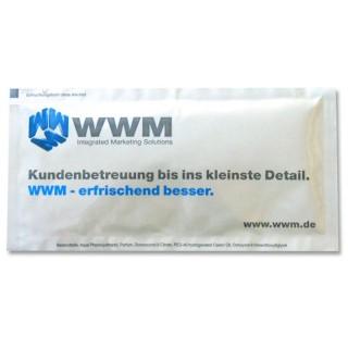 Erfrischungstücher WWM als Werbemittel bedrucken