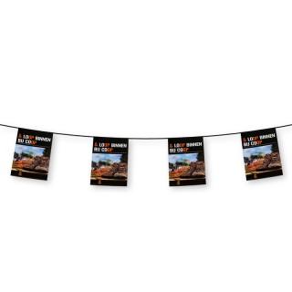 A4 Fahnenketten bedrucken 20x30cm auf 120g/m² Papier Flammhemmend B1 (ab 10 Stück)