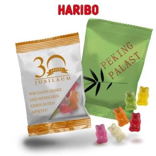 Mini Haribo Goldbären als Werbetüte mit 10g Inhalt als Fruchtgummi Werbung