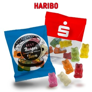HARIBO Goldbären als Werbeartikel Fruchtgummi bedrucken mit Firmenlogo