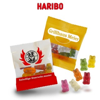 HARIBO Gummibärchen bedrucken als Werbeartikel mit Mini-Goldbären