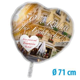Herz Folienballons als Werbeballons bedrucken