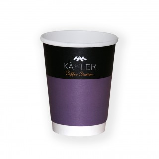 Doppelwand-Pappbecher als To Go Kaffeebecher 350ml 12oz Ø90mm (ab 500 Stück)