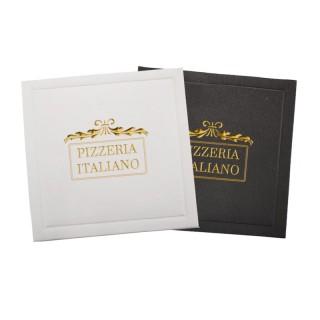 Kleinauflage Tassendeckchen ab 100 Stück im Heißprägedruck mit eigenem Logo bedrucken