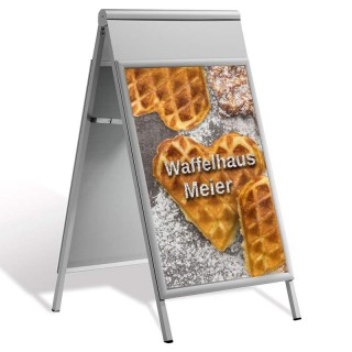 Kundenstopper Streamline als Plakatständer mit Plakat bedrucken lassen