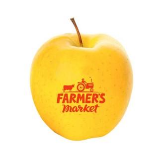 Apfel gelb mit eigenem Logo bedrucken