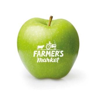 Logo Apfel Grün Farmers Market bedrucken
