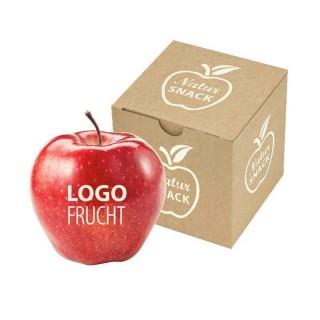 Apfel in Snackbox als Schachtel bedrucken