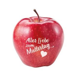 Apfel mit Standardmotiv Muttertag bedrucken