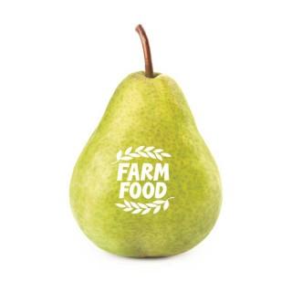 Birne mit Logo bedrucken Farm Food