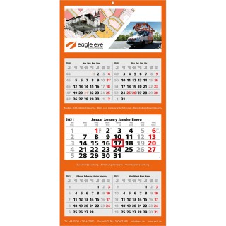 Wandkalender Multi 5 bedrucken als Werbekalender