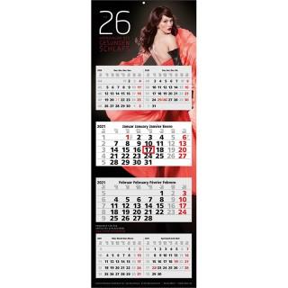 Wandkalender Multi 6 als 6-Monats-Werbekalender bedrucken für Firmenwerbung