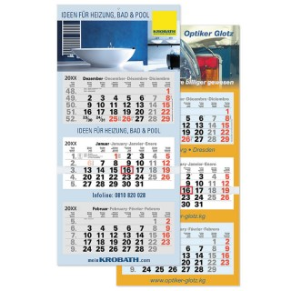 Mehrblock Monatskalender A63 bedrucken als Werbekalender