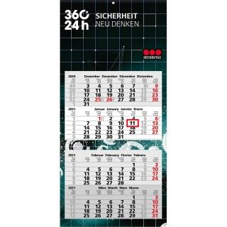Wandkalender Synergy 4 als Mehrblock-Monatskalender für Eigenwerbung bedrucken