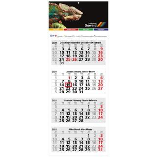 Wandkalender Forum Light 4 Complete bedrucken als Werbeartikel