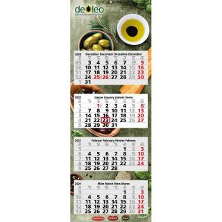 Wandkalender Quadro Light 4 als Werbekalender mit Firmenlogo bedrucken