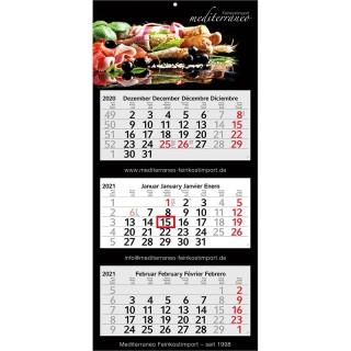 Wandkalender Profil 3 als Werbeartikel oder Werbekalender im Express bedrucken