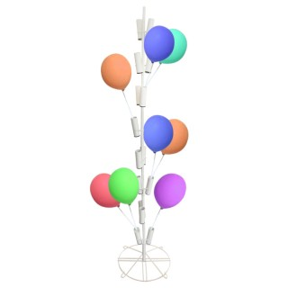 Metall-Luftballonständer / Papierfahnenständer weiß