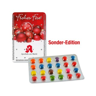 Mini-Schokolinsen Adventskalender