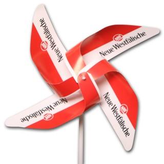 Windmühlen 4 Flügel aus Kunststoff YUPO 116 g/m² ohne Front-Rosette (ab 1.000 Stück)