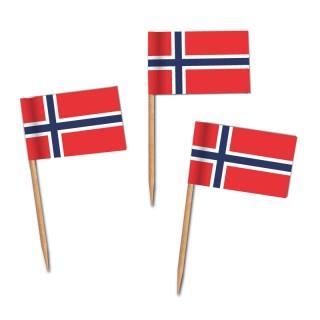 Käsepicker, Partypicker, Spieße, Party, Partydeko, Dekoration, Dekorationen, Kanapee, Canapé, Fahne, Flagge, Kostprobenpicker, Miniflagge, Miniflaggen, Minifahne, Minifahnen, Holzpicker Norwegen Fahne, Picker Norway Flagge