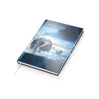 Notizbuch Note-Book A4 Bestseller - Cover-Star 4C-Digital (ab 50 Stück)