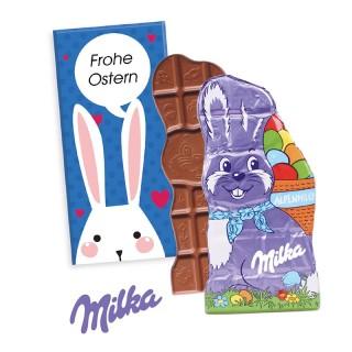 Ostern Milka Tafel in Hasenform als Werbeartikel bedrucken
