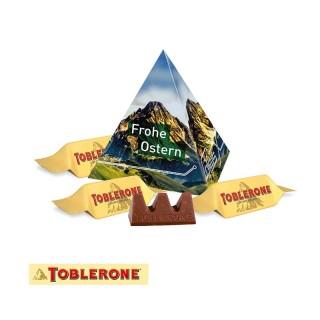 Toblerone Pyramide mit 3 Minis als Schokoladenpräsent bedrucken