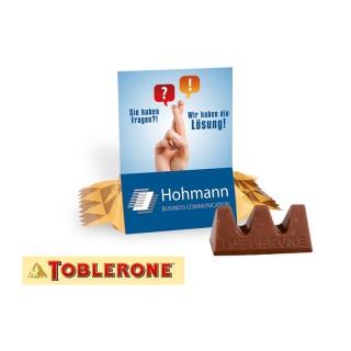 Toblerone Werbeaufsteller als kleines Give-Away bedrucken