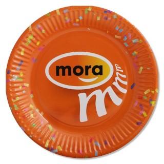 Pappteller 23 cm bedrucken mit individuellem Motiv Mora