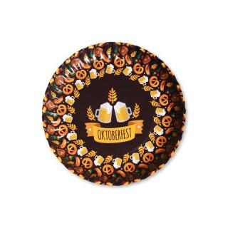Kleine runde Pappteller in Großauflage bedrucken Oktoberfestmotiv