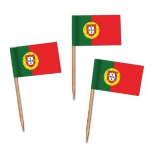 Käsepicker, Partypicker, Spieße, Party, Partydeko, Dekoration, Dekorationen, Kanapee, Canapé, Fahne, Flagge, Kostprobenpicker, Miniflagge, Miniflaggen, Minifahne, Minifahnen, Holzpicker Portugal Fahne, Picker Portugal Flagge