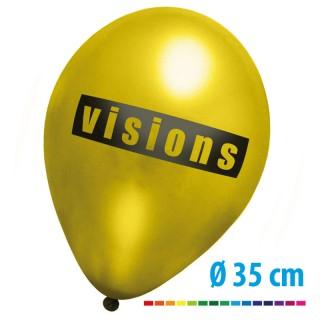 Riesen Metallic Luftballons bedrucken in Gold