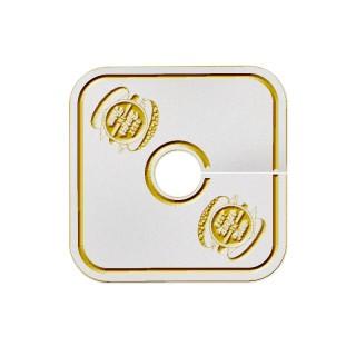 Quadratische Pilsdeckchen bedrucken im Prägedruck als Werbeartikel für Restaurant oder Gastronomie