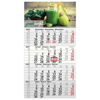 Recycling Wandkalender günstig bedrucken als Budget 4 Monatskalender