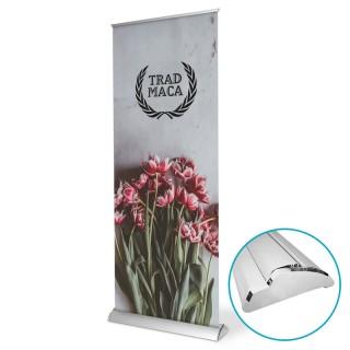 Business Banner RollUp mit glänzender Kartusche für noblen Auftritt