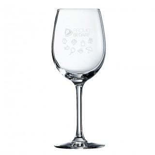 Rotweinglas mit Lasergravur, Füllstrich 0,1 oder 0,2 l (ab 24 Stück)