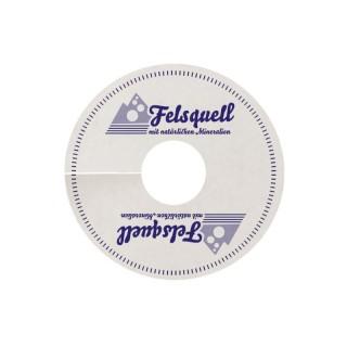 Runde Pilsdeckchen bedrucken im Flexodruck mit farbigem Motiv und Raster
