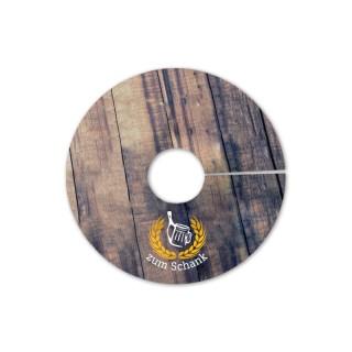 Runde Pilsdeckchen im Digitaldruck bedrucken in Kleinauflagen