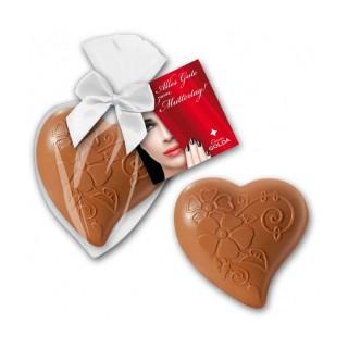 Schokoladenherz als süßen Werbeartikel zu Ostern bedrucken