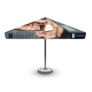 Sonnenschirm 3x3m quadratisch als Basic Umbrella bedrucken