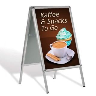 Plakatständer als Straßenständer DIN A1 mit passendem individuell bedrucktem Plakat