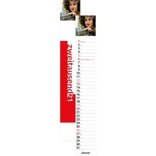Streifenkalender Combi bedrucken mit Firmenlogo oder Werbung