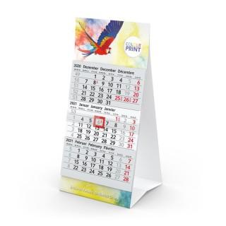 Tischkalender Mini 3 bedrucken als Werbeartikel Aufstellkalender für Schreibtisch
