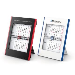 Tischkalender schwarz/rot oder weiß/blau bedrucken
