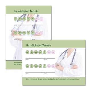 Terminzettel für Arzt mit Logo als Terminblock A7, 50 Blatt (ab 50 Stück)