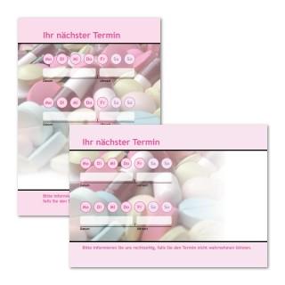 Terminzettel Medizin mit Logo als Terminblock A7, 50 Blatt (ab 50 Stück)