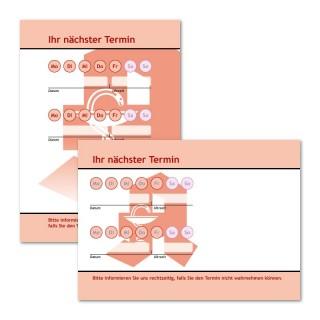 Terminzettel Apotheke mit Logo als Terminblock A7, 50 Blatt (ab 50 Stück)