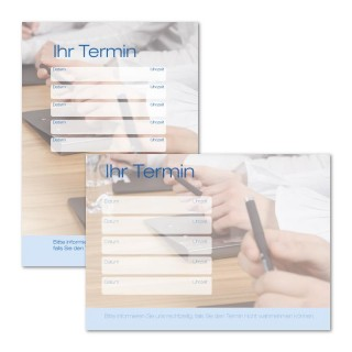 Terminzettel: Business mit Logo als Terminblock A7, 50 Blatt (ab 50 Stück)